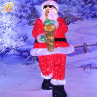 Led santa claus door decoration