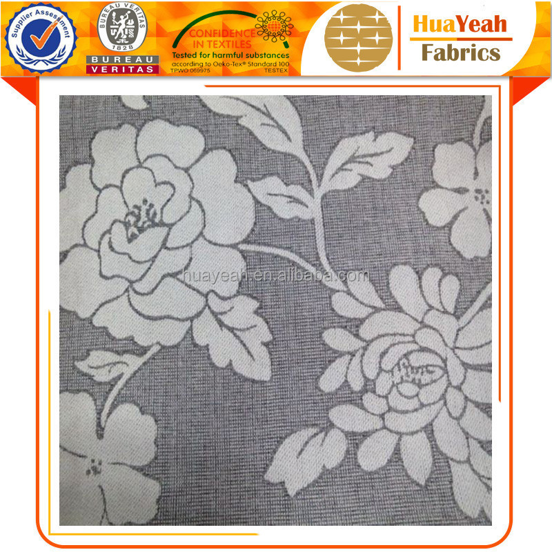 Cream jacquard chenille material fabric for upholstery furniture