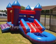 hot commercial used party jumpers for sale,cheap bounce houses inflatable bounce house with slide and pool F3039