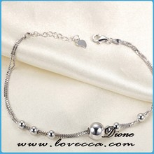 The newest designs women fashion 925 sterling silver chain and bangles jewelry