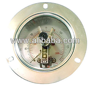 Pressure Gauge with Electrical Contact with Front Flange
