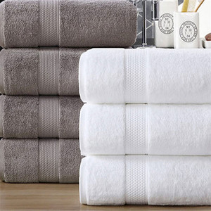China 100%cotton dobby bath towels for luxury hotel quick dry