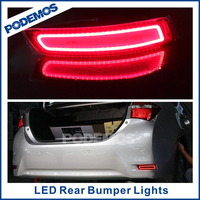 Car rear led tail light brake lamps modified led car lights car led tuning lights for Toyota Corolla 2014~ON