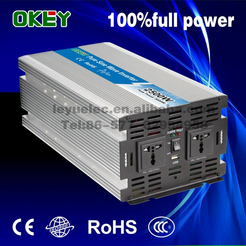 12v 24v 48v pure sine wave off grid solar power 24vdc 230vac inverter 2500w 2.5kw single output