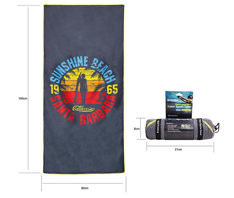 compact beach towel quick dry lightweight sand free with easy pack microfiber towel suitable
