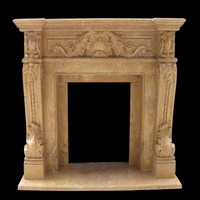 Decorative Natural Marble Fireplace Surround,Marble Stone Fireplace