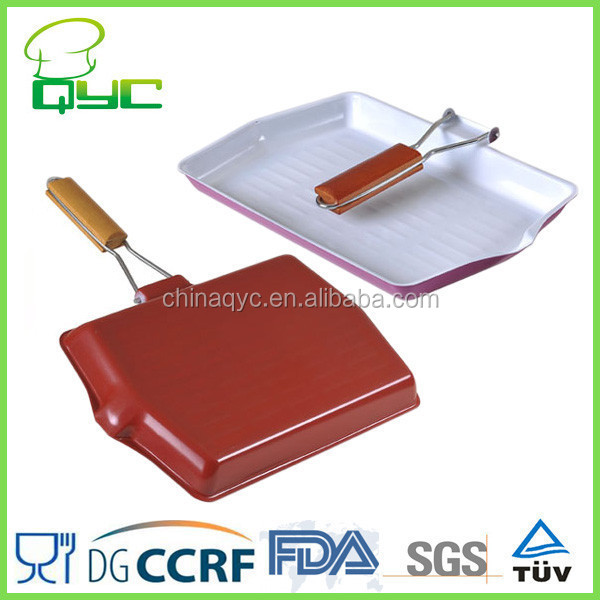 Non-Stick Carbon Steel Ceramic Coating Griddle Pan