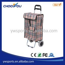 Durable unique three wheel foldable shopping trolley