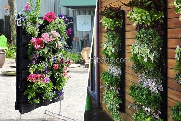 Fabric aeration plant grow bag wall hanging planting bag 2 - Como decorar mi jardin ...