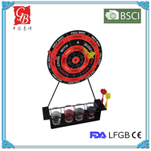Hot Sold Safety Drinking Dart Game with 4 glasses for party low MOQ (Small)