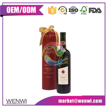 Luxury custom decorative wine cardboard tube for bottles