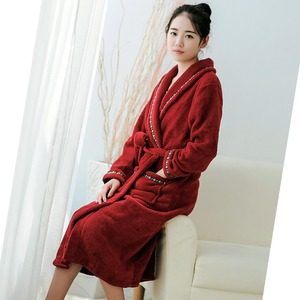 High Quality Hotel Terry Bathrobe With Embroidered Logo Thicken 100 cotton Bathrobe