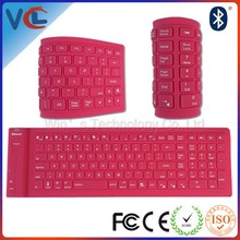 VMK-18 colored silicone flexible bluetooth wireless keyboard 109Keys