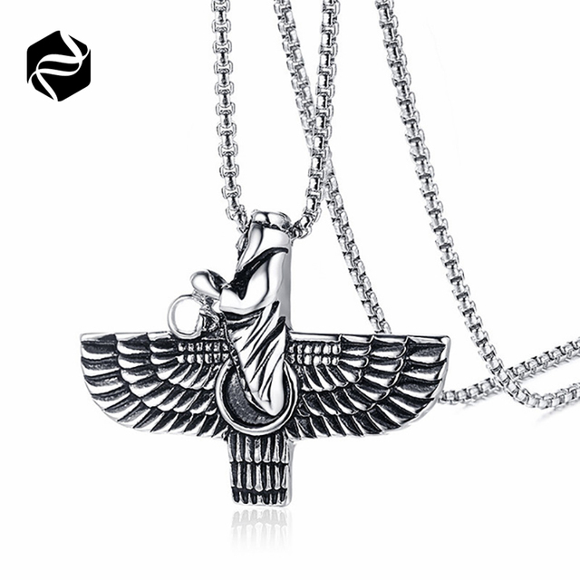 Fashion Stainless Steel Mens Necklace Middle East Religion Prayer Pendant Necklace