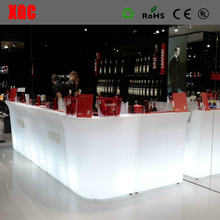 Straight and Corner Combinational Bar Counter LED Design Mobile Sectional Bar Counter