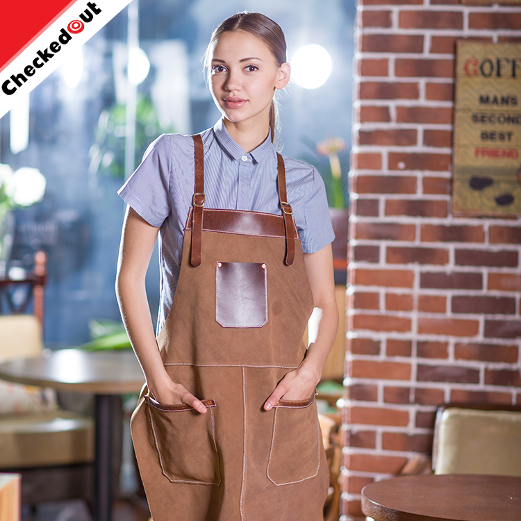 Fashion latest unisex apron the long hanging neck denim apron for the garden