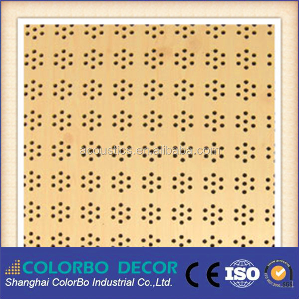 Advanced Acoustic wall Board(MDF) for Office wooden acoustic material supply