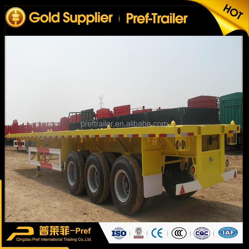 Widely Used Flatbed Container Semi Trailer Container Chassis 20ft 40ft Container Transport