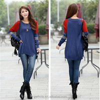 Fashion Loose Casual Round Collar Pullover Long Sweater For Ladies