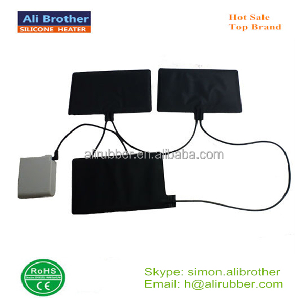 Resonable price battery operated heating pad use 7.4v 3000mah battery