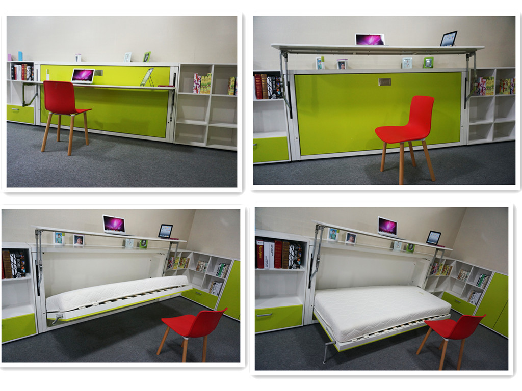 Fold out bed from wall - Folding Wall Bed Murphy Bed Hidden Wall Bed Wall Mounted Bed Foldable