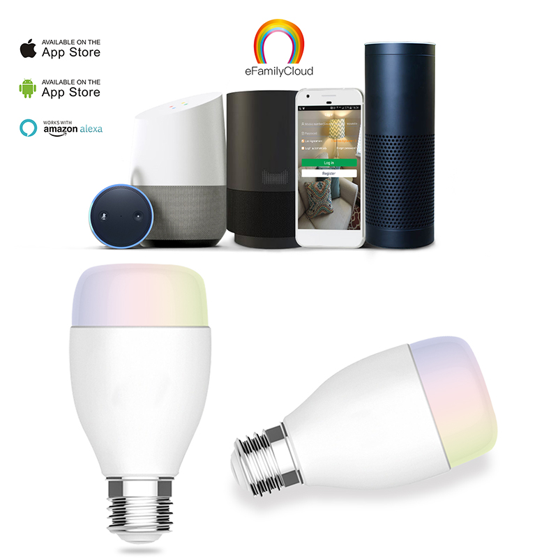 Tuya app wireless control google home compatible dimmable rgb smart led <strong>bulb</strong> alexa