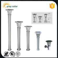 hot lumen stainless steel waterproof ip65 outdoor solar garden led bollard lamp