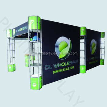 protable aluminum exhibition booth with truss spiral tower stands