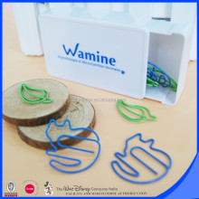 Custom made souvenir leaf and cat paper clip gift set
