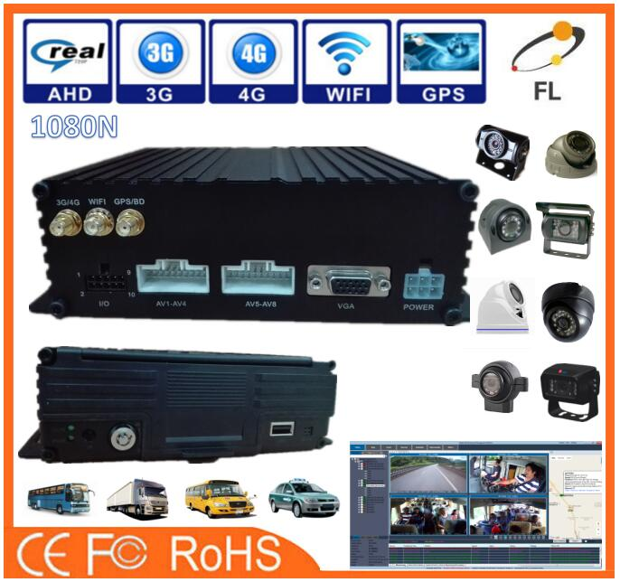 4channesls/8channels 3G 4G GPS SD Cards 4CH Vehicle IP camera DVR for sale with Full form CCTV Camera support GPS+4G