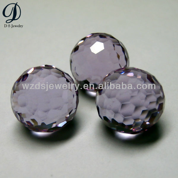 hot sale lavender glass football-shape gemstone