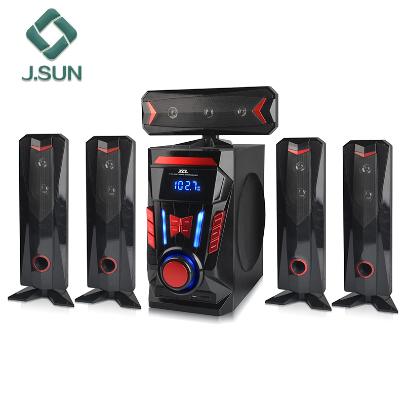 Private mold 5.1 audio subwoofer wireless portable pa speaker system
