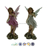 decorative resin fairy w. plastic wing