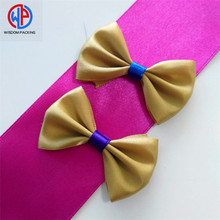 Wholesale custom 100% polyester double faced satin ribbon bow