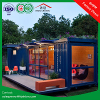 20ft 40 foot flat pack light steel prefabricated simple villa house portable home prefab container villa