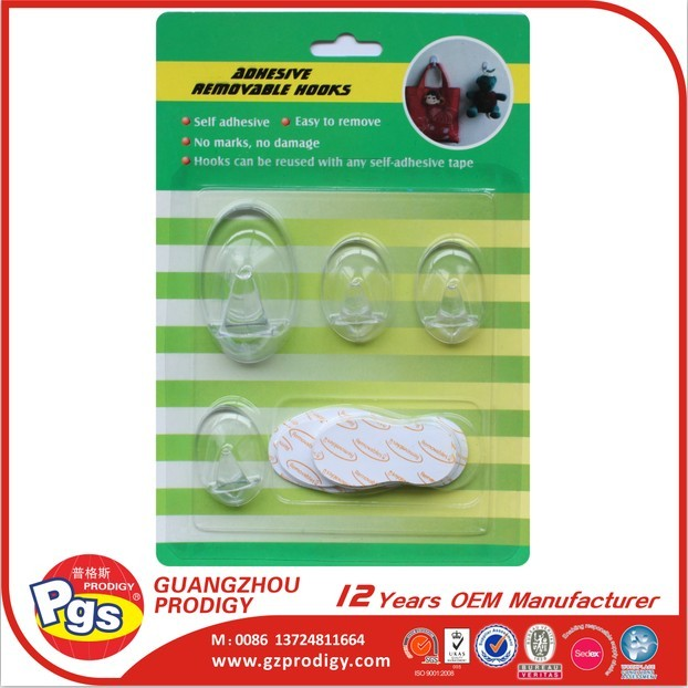 Removable Clear various types hooks
