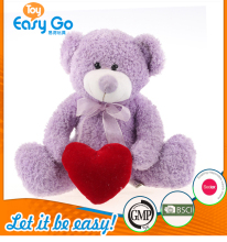 Custom valentine bear plush teddy with red heart