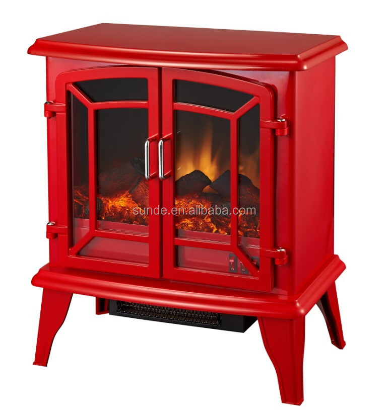 20 Inch Red Electric Fireplace Stove Heater - Buy Electric ...