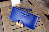 2016 Spring Style Elegant Girls Clutch Purse Lady Wallet With Real Leather