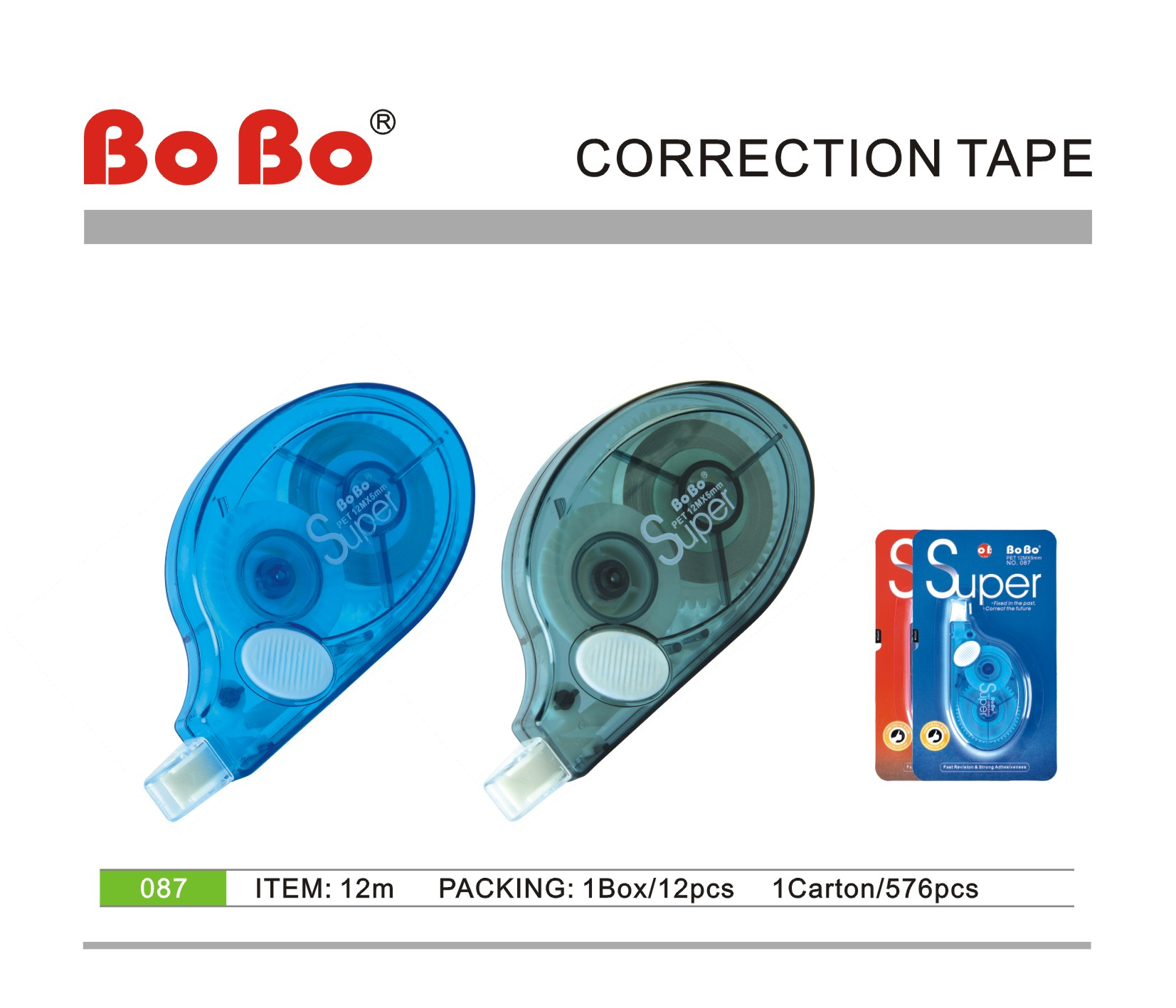 New arrival stationery 12m length school office PET correction tape