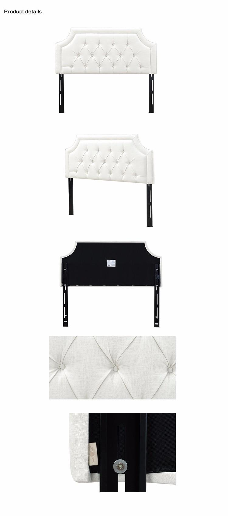 Muebles del hotel marco de madera tamaño queen cama cabecera, blanco ...