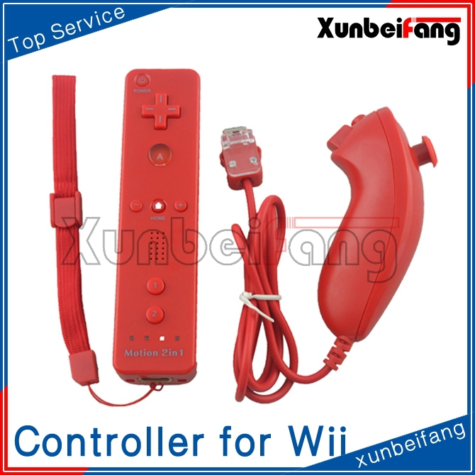 For Wii 2in1 MotionPlus Remote Controller and Nunchuk