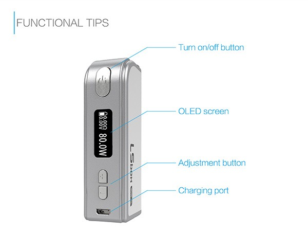 Electronic cigarette best LSBOX 80W TC temperature control box mod