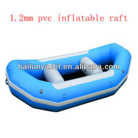 1.2mm pvc rubber inflatable raft with self bailing in the white water