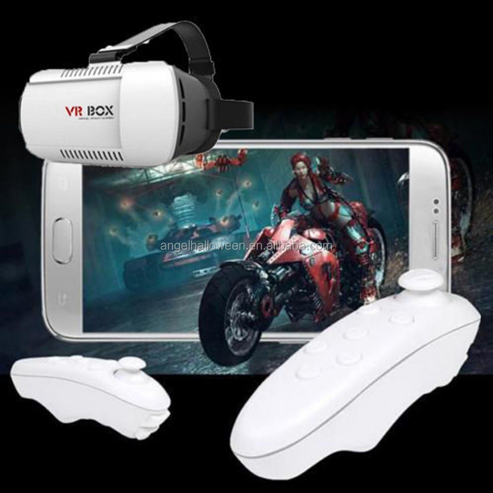 3D Bluetooth Virtual Reality Glasses VR BOX Game Remote Control For Phone Iphone VR039