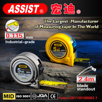 superior quality round shape ASSIST 3m 5m 5.5m 7.5m 8m 10m tape measure/new abs tape measure/water proof steel measuring tape