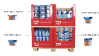 Supermarket multi-cells corrugated cardboard display pallet for food container