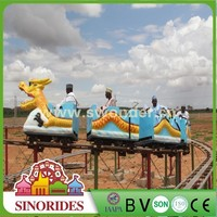 China park amusement equiment slide dragon ride Type fiberglass roller coster with Best quality