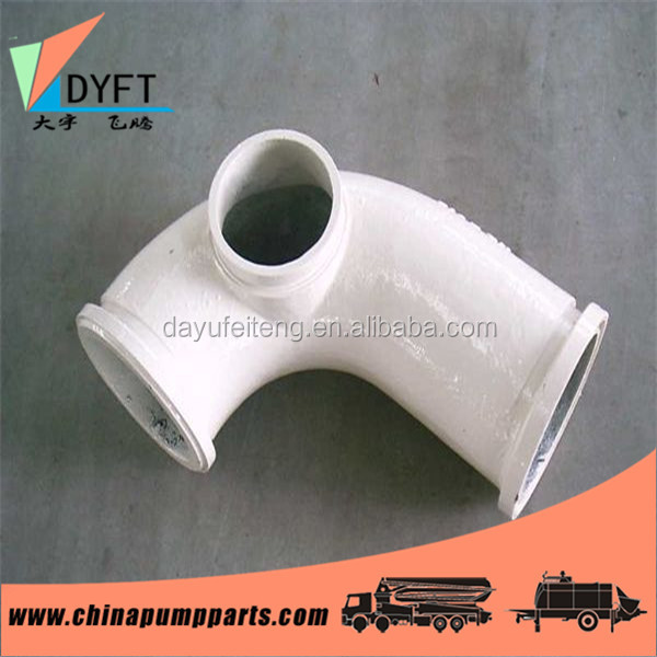 concrete pump truck construction spare parts twin walls DN125 r180 45 degree pipe bend