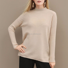 High quality casual knitted 100% cotton sweater design for women